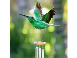 Exhart 40209-GR Large WindyWings Humingbird Wind Chime - Green