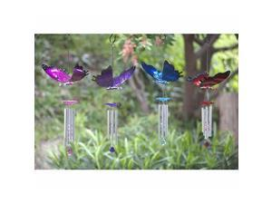 Exhart 40213-BL Large WindyWings Blue Butterfly Wind Chime