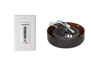 Monte Carlo MCRC3RRB Hard-wired wall remote control, receiver, white-almond switch plates. ROMAN BRONZE receiver hub