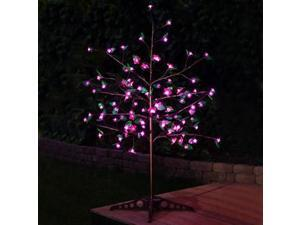 Exhart 53596 Anywhere Pink LED Tree - 75 LEDs with leaves