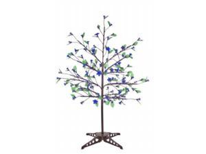 Exhart 53581 Anywhere Blue LED Tree - 90 LEDs with leaves