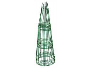 Glamos Wire Products 220500 12x33 Plant Support - Blazin Gemz Emerald Green - Pack of 10