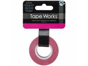 "Tape Works Tape .625""X50ft-Bright Magenta"