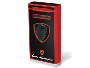 Tonino Lamborghini TTR005007 Tonino Lamborghini Pergusa Black And Red Torch Flame Lighter