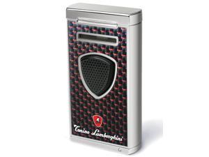 Tonino Lamborghini TTR005021 Tonino Lamborghini Pergusa Black And Red Carbon Fiber Torch Flame Lighter