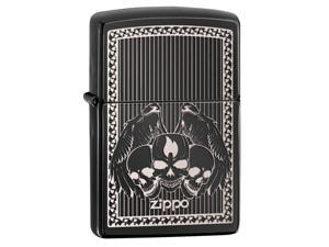 Zippo zippo28678 Zippo Zippo Skulls Ebony Windproof Lighter