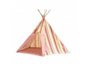 PACIFIC PLAY TENTS 39611 PINK STRIPE COTTON CANVAS TEEPEE