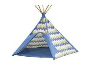 PACIFIC PLAY TENTS 39618 BLUE STRIPE COTTON CANVAS TEE PEE