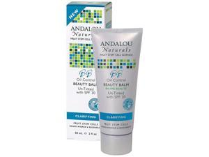 Andalou Naturals 1162775 Clarifying Oil Control Beauty Balm Un-Tinted with SPF30 - 2 fl oz