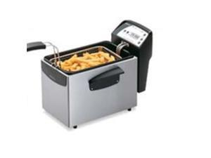 National Presto Industries 05462 ProFry Stainless Steel Digital Immersion Element Deep Fryer