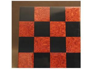 Ferrer 50400BR 15.75 in. Black and Red Briar Glossy Board - Wood Veneer - Glossy Finish