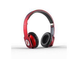 NoonTec ZORO-HD-RED True Sound Headphones with Inline Mic and Answer-End Button - Red - Red