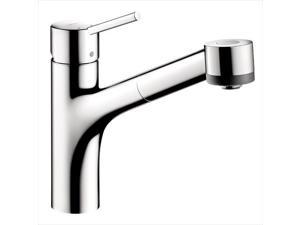 Hansgrohe 6462000 Talis S Single-Handle Pull-Out Sprayer Kitchen Faucet in Chrome