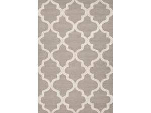 Jaipur Rugs RUG111783 Hand-Tufted Geometric Pattern Wool Gray-Ivory Rug - CT30