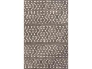 Jaipur Rugs RUG113131 Hand-Tufted Durable Wool Gray-Ivory Rug - RIA06