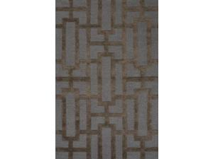 Jaipur Rugs RUG111625 Hand-Tufted Geometric Pattern Wool- Art Silk Blue-Brown Rug - CT26