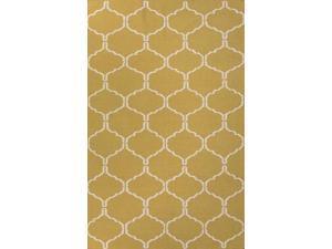 Jaipur Rugs RUG112085 Flat-Weave Moroccan Pattern Wool Green-Ivory Rug - MR95