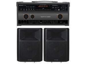 Emerson DV124 Professional CDG-MP3G Karaoke System with 450W Amp, Record Function and 300W 2-Way Speakers with 12 in. Woofer