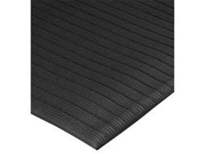 Anti-Fatigue Mat Vinyl Foam Beveled Edge 2'x3' Black