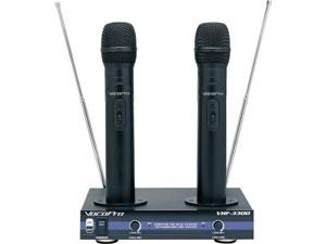 VOCOPRO VHF3300-2 2 Channel VHF Rechargeable Wireless Microphone System