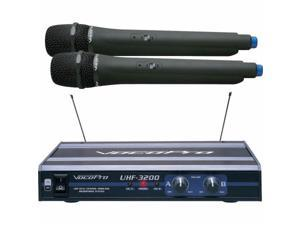 VOCOPRO UHF3200-5 Dual Channel Wireless Microphone System