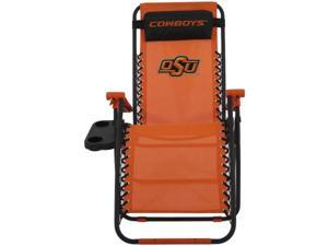 Comfy Feet OKSZGC Oklahoma State Synthetic Fabric Zero Gravity Chair