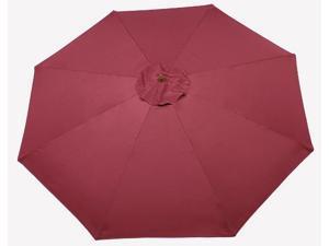Summer 93260 Wood Market Umbrella - Burgundy