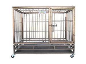 Go Pet Club SQ1038 38 in. Heavy Duty Steel Crate