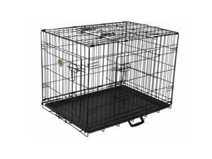 Go Pet Club TD-36 36 in. Three-Door Metal Dog Crate with Divider