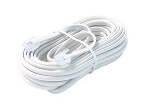 Steren BL-324-025WH 25 ft. White 6-Conductor Telephone Line Cord