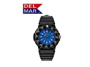 Del Mar 50247 Mens Dive 200 Blue Dial PU Watch