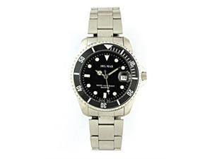 Del Mar 50115 Mens Classic Dive Watch - Stainless Steel