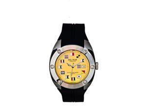 Del Mar 50222 Mens 100 Meter Bright Nautical Dial Yellow Face