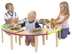 Kids Circle of Fun 4 Puzzle Benches Educational Learning Activity Center Table