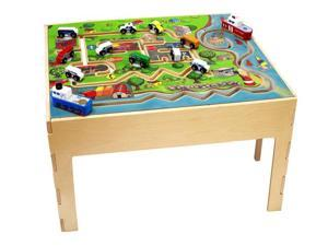 Kids City Transportation Activity Educational Fun Learning Wooden Play Table