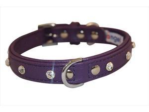 Angel Pet Supplies 41115 Athens Rhinestone Dog Collar in Orchid Purple