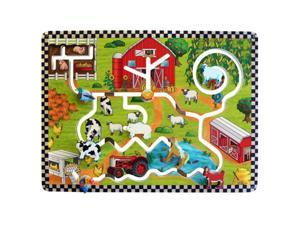 Kids Playroom Farm Activity Educational Fun Learning Wall Mounted Panel Toys