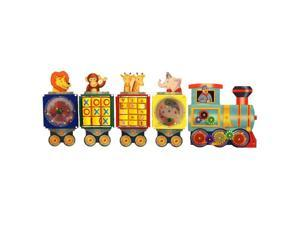 Kids Busy Train Educational Wall Mounted Daycare Activity Panel Toys Games