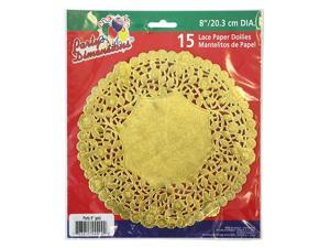 Party Dimensions 72948 8 in. Lace Doily Gold - 720 Per Case