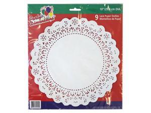 Party Dimensions 70841 10 in. Lace Doily White - 432 Per Case