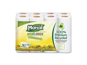 Marcal Paper Mills, Inc MRC16466CT Bath Tissue, 2-Ply, 168 Sheets-Roll, 96 Rolls-CT, White