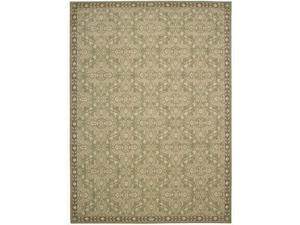Nourison 41979 Riviera Area Rug Collection Green 5 ft 3 in. x 7 ft 5 in. Rectangle