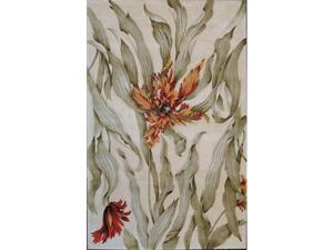 Nourison 81907 Tropics Area Rug Collection Ivory 7 ft 6 in. x 9 ft 6 in. Rectangle