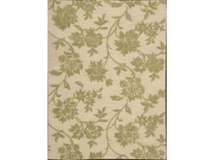 Nourison 721 Skyland Area Rug Collection Iv and Green 3 ft 6 in. x 5 ft 6 in. Rectangle