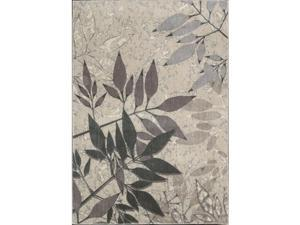 Nourison 16043 Utopia Area Rug Collection Silver 5 ft 3 in. x 7 ft 5 in. Rectangle