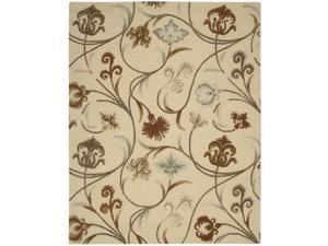 Nourison 12416 In Bloom Area Rug Collection Beige 5 ft 3 in. x 7 ft 4 in. Rectangle
