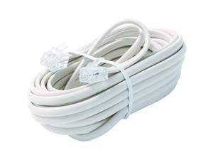 Steren BL-324-015WH 15 ft. White 6-Conductor Telephone Line Cord