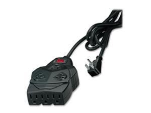 Fellowes Mfg. Co. FEL99090 Surge Protector- 5 Adapters- 1300 Joules- 8 Outlets- 6ft.- Black