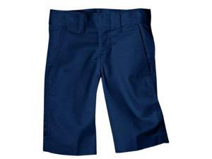 Dickies KR123DN 18 Boys Dark Navy Flex Waist Flat Front Short