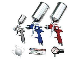 ATD Tools ATD-6900 9 Pc. Hvlp Spray Gun Set